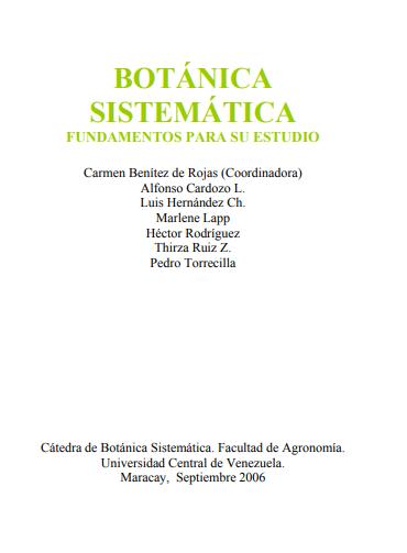 Botanica sistematica, libro en pdf infoagronomo.