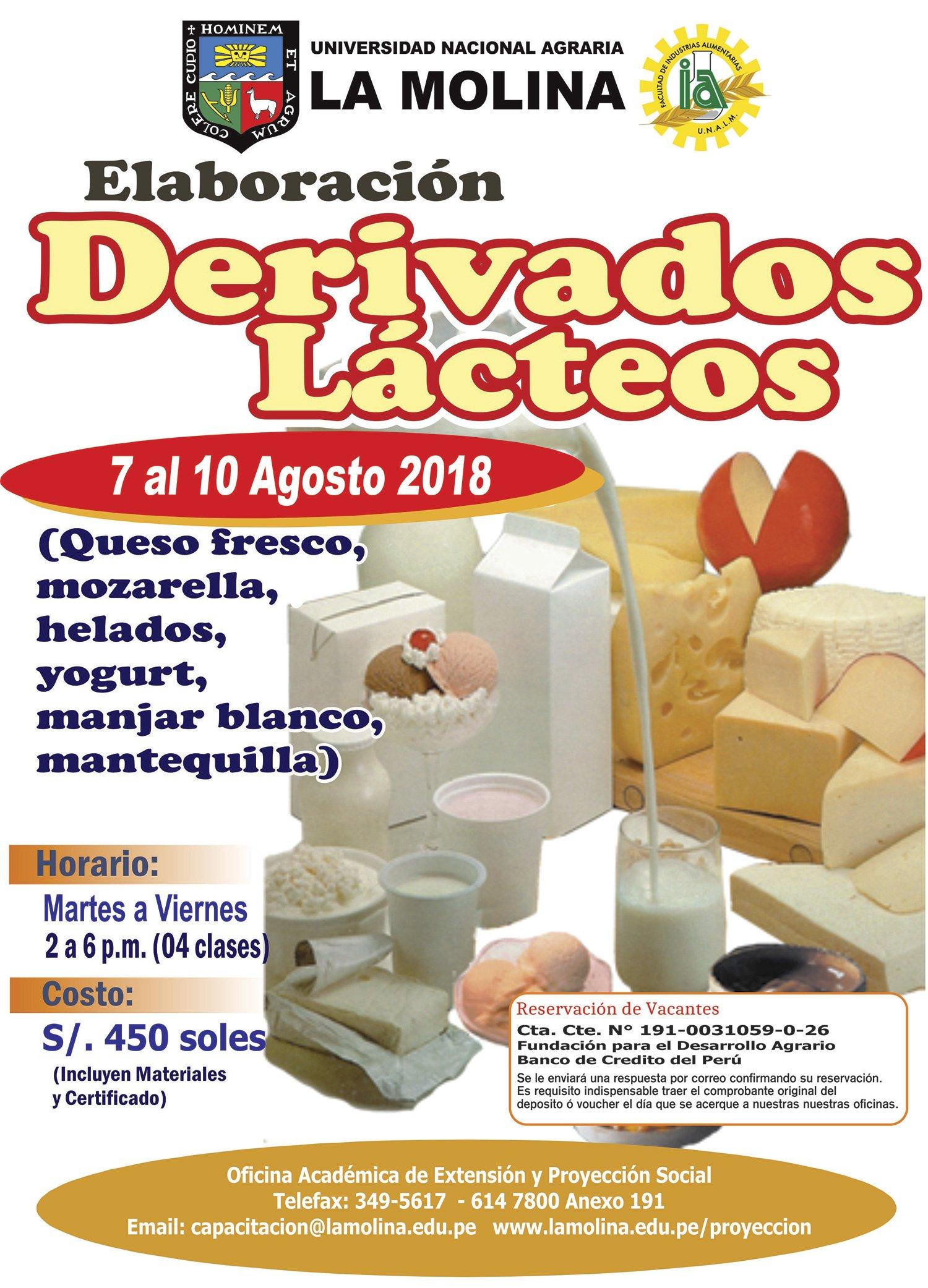 Cursos 2018: Elaboración de Derivados Lácteos.