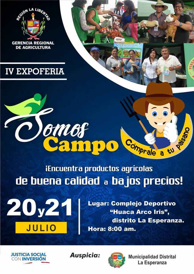 """IV FERIA """"Somos Campo""""  20 y 21 de Julio 2018"""
