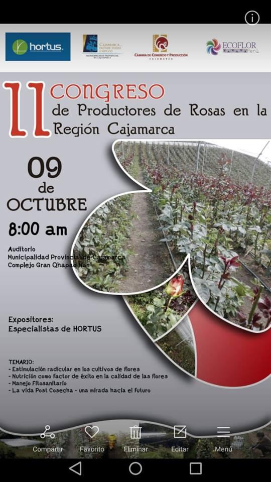 II congreso de producción de rosas en CAJAMARCA