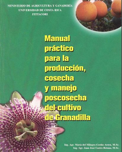 Manual del cultivo de granadilla. pdf gratis